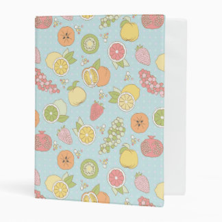 Pattern With Fruits And Berries Mini Binder