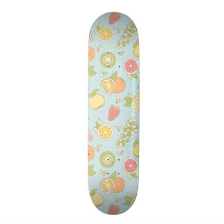 Pattern With Fruits And Berries Skateboard