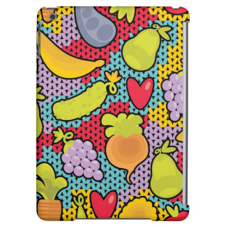 Pattern with fruits and vegetables iPad air covers