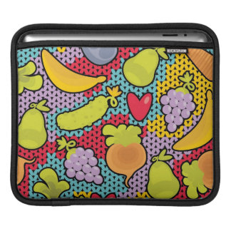 Pattern with fruits and vegetables sleeve for iPads