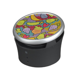Pattern with fruits and vegetables speaker