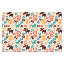 Pattern With Funny Cats And Dogs Tissue Paper