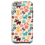 Pattern With Funny Cats And Dogs Tough iPhone 6 Case