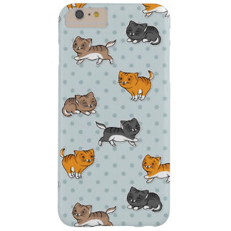 pattern with funny cats barely there iPhone 6 plus case