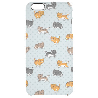 pattern with funny cats clear iPhone 6 plus case