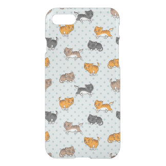 pattern with funny cats iPhone 7 case