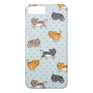 pattern with funny cats iPhone 7 plus case