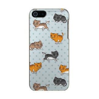 pattern with funny cats metallic iPhone SE/5/5s case