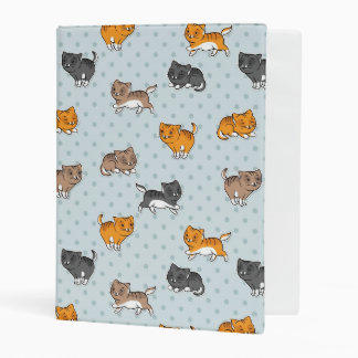 pattern with funny cats mini binder