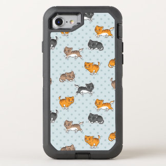 pattern with funny cats OtterBox defender iPhone 7 case