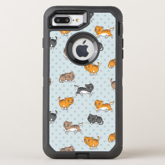 pattern with funny cats OtterBox defender iPhone 7 plus case