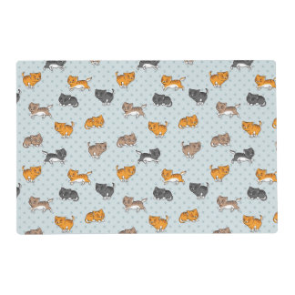 pattern with funny cats placemat