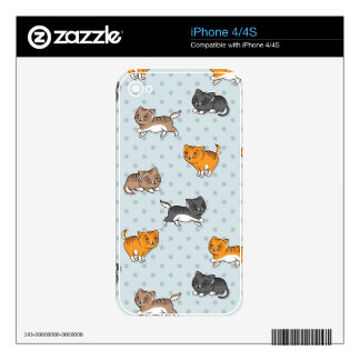 pattern with funny cats iPhone 4 skins