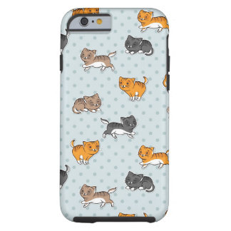pattern with funny cats tough iPhone 6 case