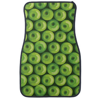 Pattern with Green Apples Car Floor Mat