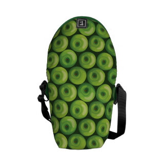 Pattern with Green Apples Courier Bags