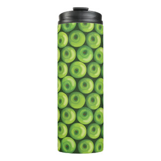 Pattern with Green Apples Thermal Tumbler