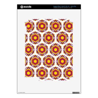 Pattern with Hexagon Suns iPad 3 Skins
