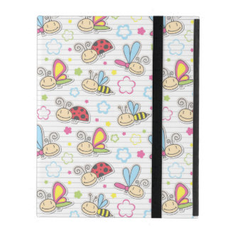 pattern with insects iPad case