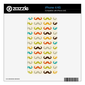 Pattern with mustache decals for iPhone 4