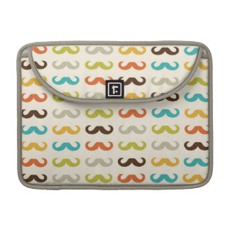 Pattern with mustache sleeve for MacBooks