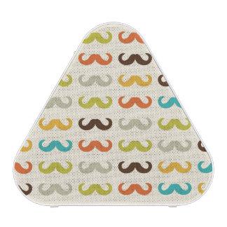 Pattern with mustache speaker