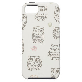 Pattern with owls iPhone 5 covers