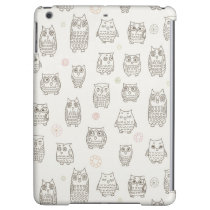 Pattern with owls iPad air case