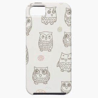 Pattern With Owls iPhone 5 Case