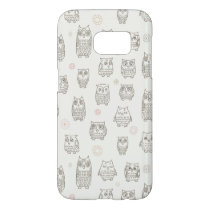 Pattern with owls samsung galaxy s7 case