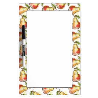 Pattern with pear dry erase whiteboards