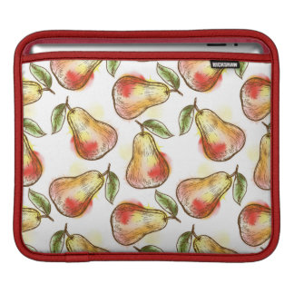 Pattern with pear iPad sleeves