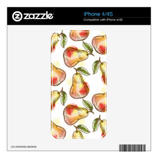 Pattern with pear iPhone 4S decals
