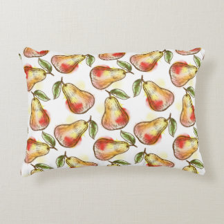 Pattern with pear accent pillow