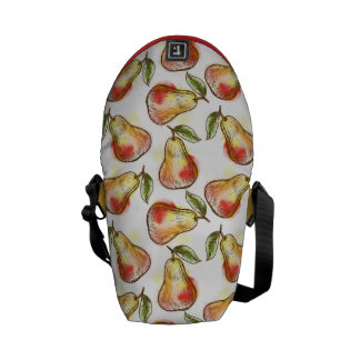 Pattern with pear messenger bag