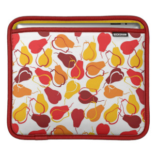 Pattern with pears iPad sleeves