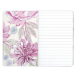 Pattern with pink flowers journals