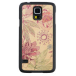 Pattern with pink flowers carved® maple galaxy s5 case