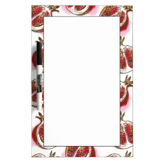 Pattern with pomegranate Dry-Erase whiteboards