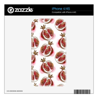 Pattern with pomegranate skin for the iPhone 4S