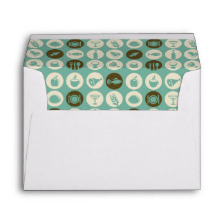 Pattern With Restaurant And Food Icons Envelope
