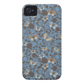 pattern with roses and butterfly Case-Mate iPhone 4 case