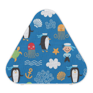 pattern with sea theme speaker