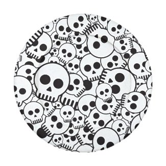 Pattern with skulls pack of small button covers