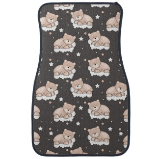 pattern with small bear sleeping car mat