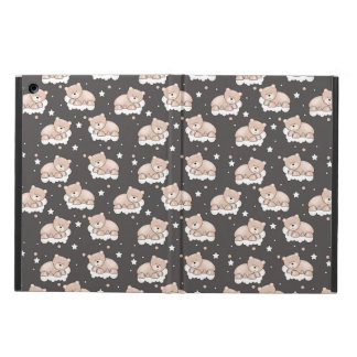 pattern with small bear sleeping case for iPad air