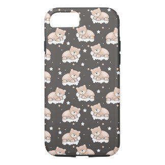 pattern with small bear sleeping iPhone 7 case