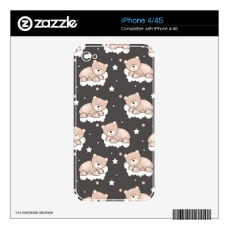 pattern with small bear sleeping skins for the iPhone 4