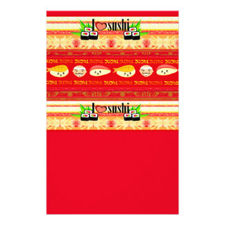 pattern with sushi Stationery
