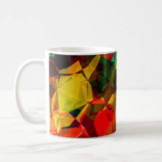 PATTERN WITH TILES IN RAINBOW COLORS COFFEE MUG